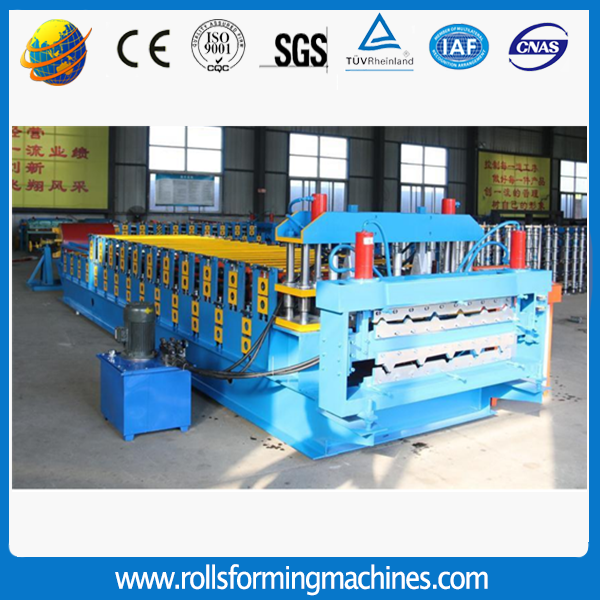 trapezoidal roofing sheet long span roll forming machine