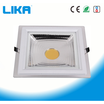 12W Square COB Glass Led Panel Light