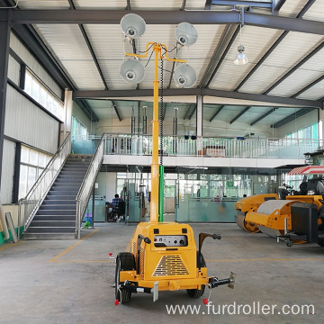 Trailer mounted mobile diesel lighting towers portable tower lights with generator FZMTC-1000B