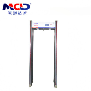 Allarme moderno Muti Zones LED Light / Sound 8 Zones Walkthrough Metal Detector Arcched MCD600