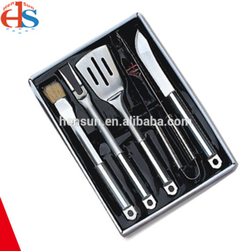 Portable 5pcs Stainless Steel Handle BBQ Tools Set