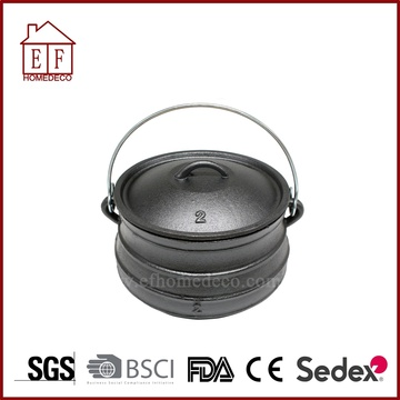 South Africa Flat Bottom Potjie Size 2