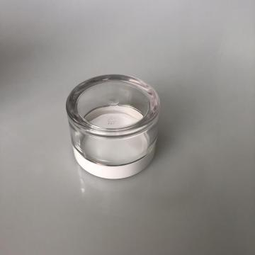 50ml clear PET jar with white lid