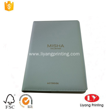 Custom A5 pu leather gift notebook printing