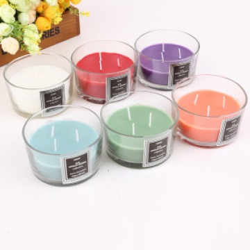 A beautifully fragrant glass candle candle
