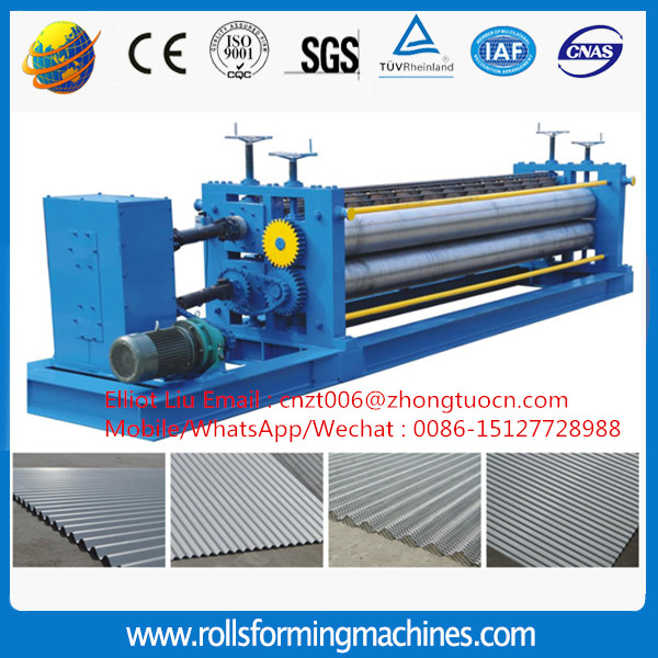 Corrugated round wave roof sheet forming machine