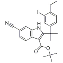 6-Cyano-2- (2- (4-ethyl-3-iodphenyl) propan-2-yl) -1H-indol-3-carbonsäure-tert-butylester CAS 1256584-75-4