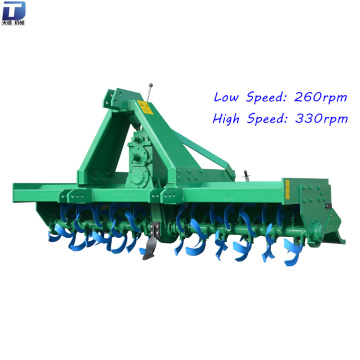 Soil tillage varying speed 3-point rotary tiller rotavator