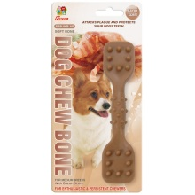 "Percell 6"" Dura Chew Toy Dumbbell Bacon Scent"