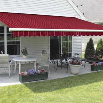 outside manual retractable awning for door