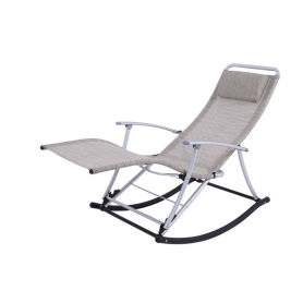 Foldable Aluminum Textilene Rocking lounge