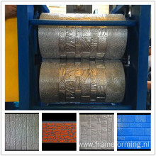 Aluminum composite faux panel with insulation embossing production line