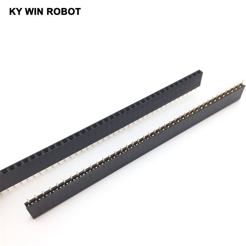 5Pcs 2.54mm 40 Pin Female Single Row Pin Header Strip New