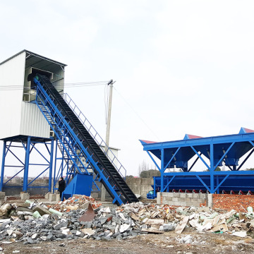 Precast mini HZS60 concrete batching plant