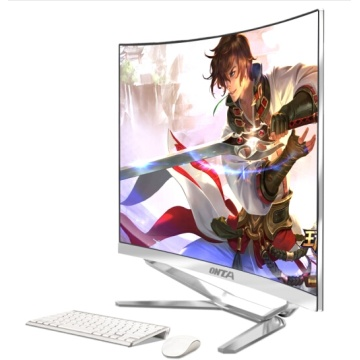 All in one computer desktop pc with cpu i5/i7 Ram 8G SSD 120G and 23.6 27 32 inch curved lcd hd screen display panel