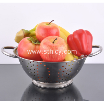 Stainless Steel Multicolor High Foot Washing Rice Sieve