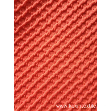 Thick air layer jaquard knit cloth fabric