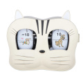 Metal Cat-face Flip Desk Clock