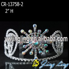 Wholesale And Custom Rhinestone AB Snowflake Pageant Crown