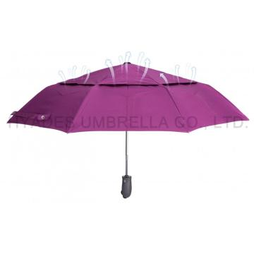 Double Layered Windproof Folding Umbrella