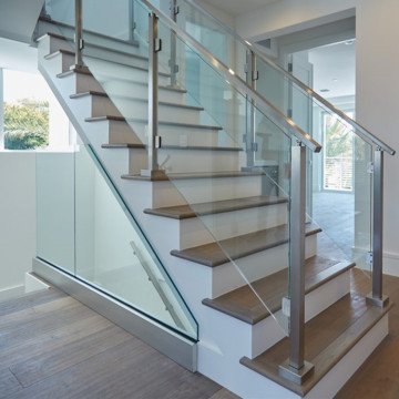 12mm Tempered Laminated Square Glass For Stair Railing