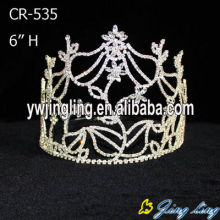large tiara flower pageant crown CR-535