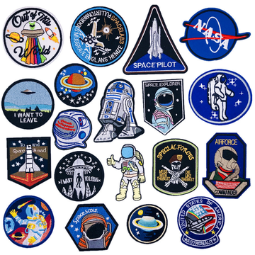 Cartoon astronaut space embroidery processing clothes