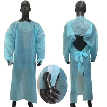Waterproof disposable apron with CE  FDA Certificate disposable isolation gown AAMI/ANSI LEVEL3 TEST REPORT