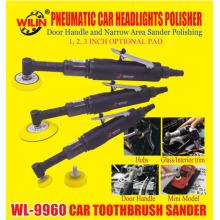 WL 9960 Pneumatic Car Headlights Polisher Door Handle And Narrow Area Sander Polishing 2 Inch 3 Inch Optional Pad