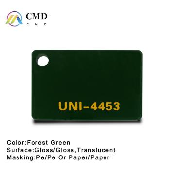 Cast Acrylic Sheets Forest Green 50% translucent