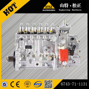 Komatsu spare parts PC300-7 excavator injection pump ass'y 6743-71-1131