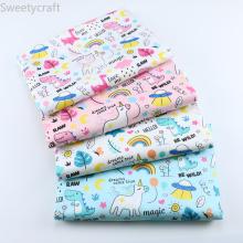 160x50cm 100% Cotton Twill Fabric Home Textile DIY Patchwork Sewing Cloth Tissu Tecido Love Me Unicorn Tela Quilting Decoration