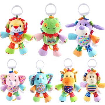 Baby 0-12 Month Rattle Toys Cute Animal Baby Rattles & Mobiles Infant Plush Learning Products Kids Gift for Children