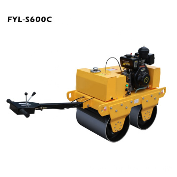 Quality Diesel Power Mini Steel Wheel Vibratory Roller