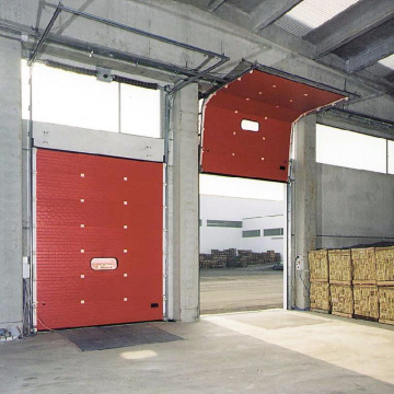 Automatische sectionele overheadgaragedeur met Windows