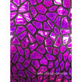 Purple Laser Lint Embroider Fabric