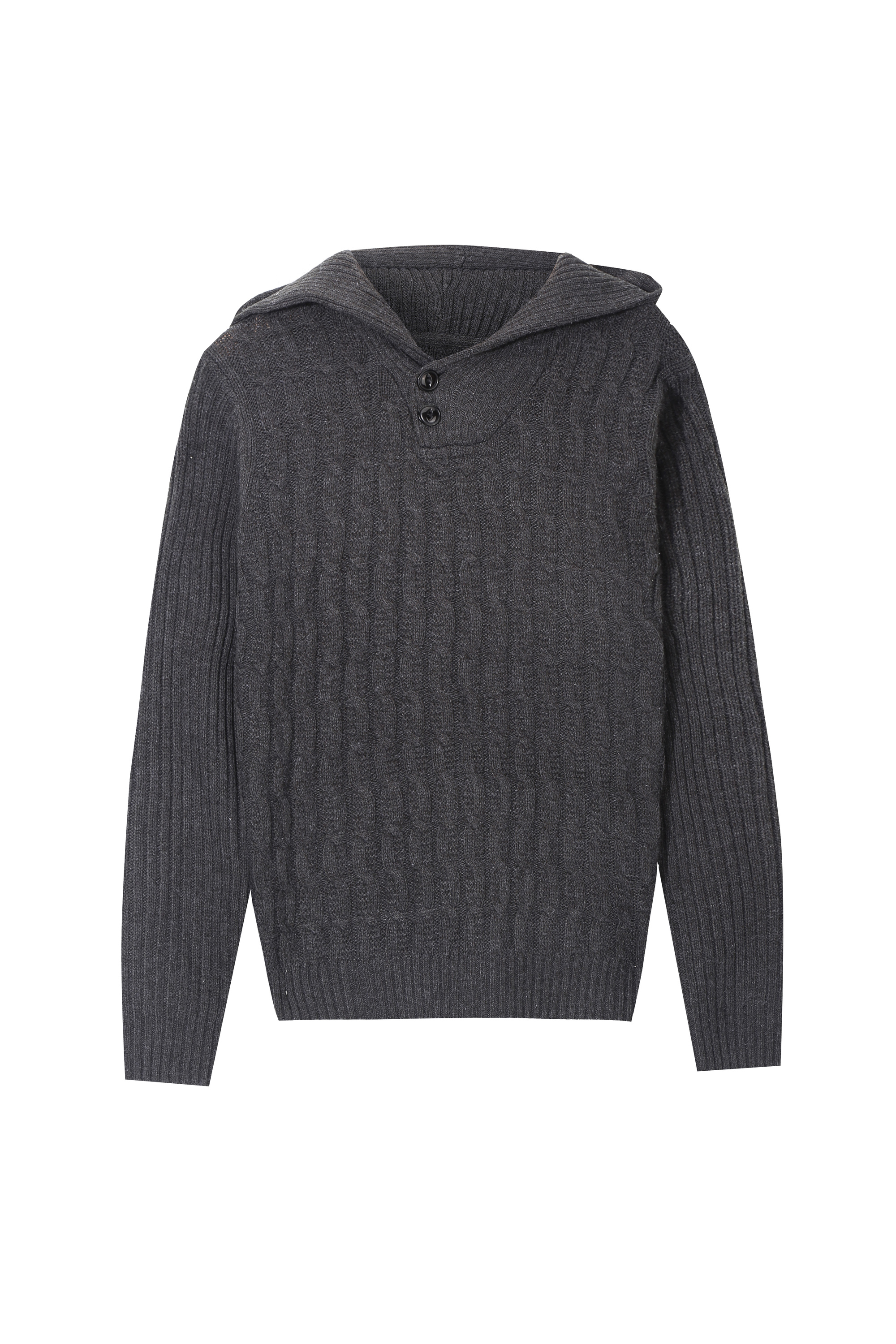 Men's Fashion Texture Knitted Hoodie Pullover