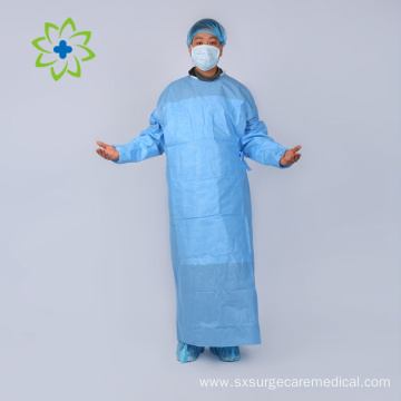 Sterile Reinforced Disposable Surgical Hospital Gown