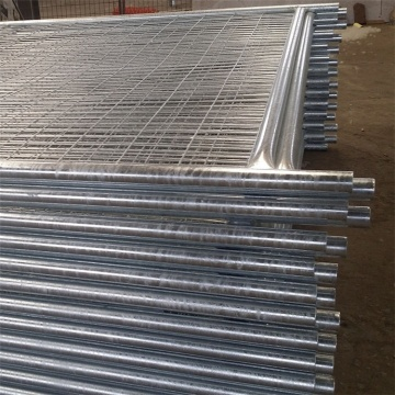temporary metal fence panels with hot dipped galvanized