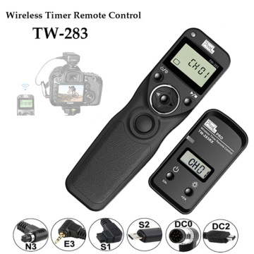 Pixel TW-283 TW 283 Wireless Timer Remote Control Shutter Release (DC0 DC2 N3 E3 S1 S2) Cable For Canon Nikon Sony Camera TW283