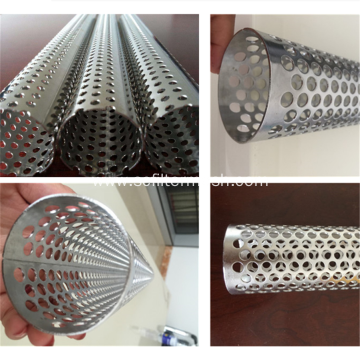 316 Stainless Steel Spiral Welded Perforated Tube
