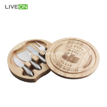4pcs Cheese Knife With Block