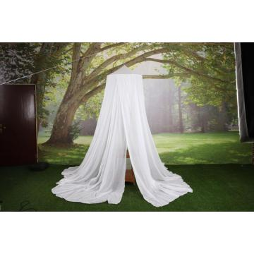 Elegant White Round Bed Canopy Cotton Mosquito Net