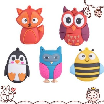 Owl Fox Bee Penguin Shaped Pendrive