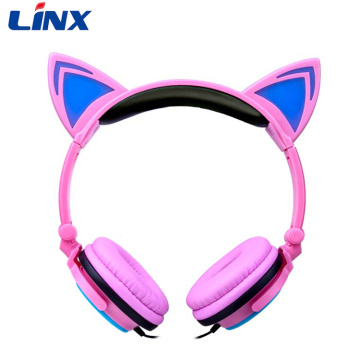Light Up Cat Headphones For Mobile Phone