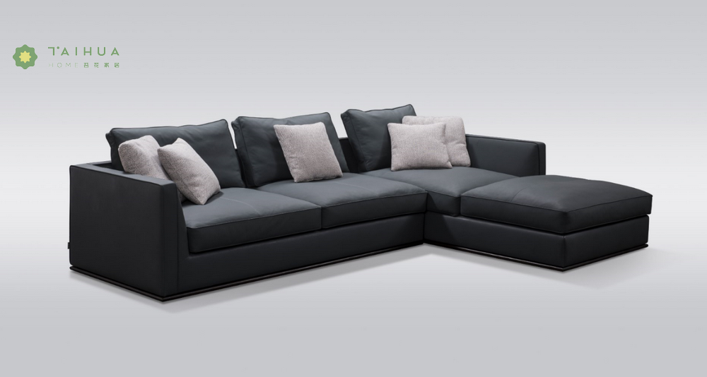Leather Cushion Corner Sofa