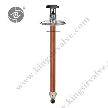 Antifreeze valve with copper tube