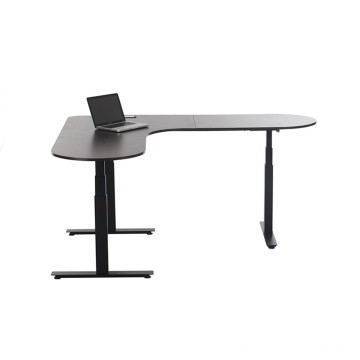 L Shape Adjustable Desk Frame Computer Table