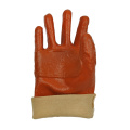 Reinforced thumb index finger PVC coated gloves