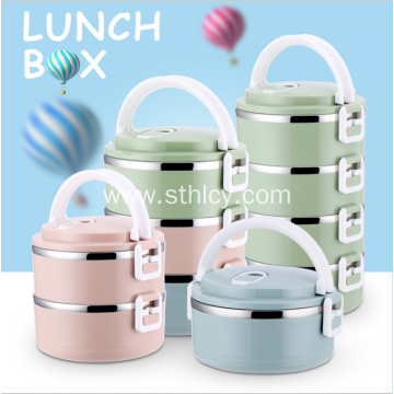 Large Capacity Portable Stainless Steel Lunch Box